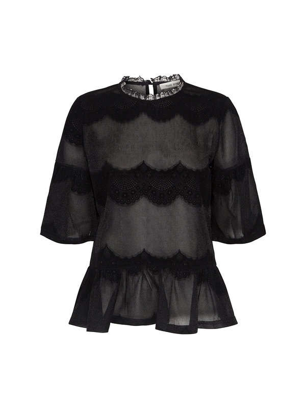 Sofie Schnoor Blouse Lace Black