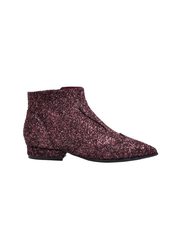 Boot Low Suede Glitter