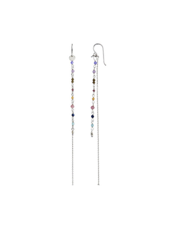 Petit Gemstones Long Chain Berry Mix Silver
