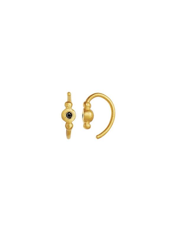Stine A Petit Bon-Bon Black Zircon Earring Gold