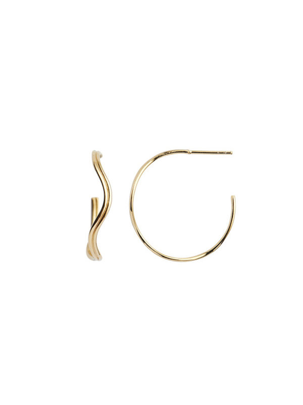 Stine A Love Wave Creol Earring Gold