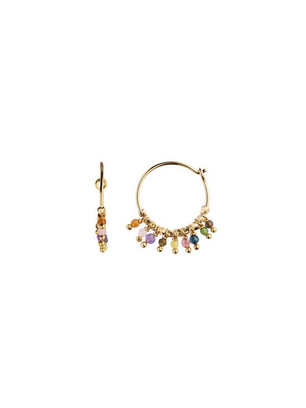 Stine A Petit Rainbow Hoop Stones Gold