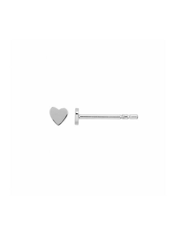 Stine A Petit Love Heart Earring Piece Silver