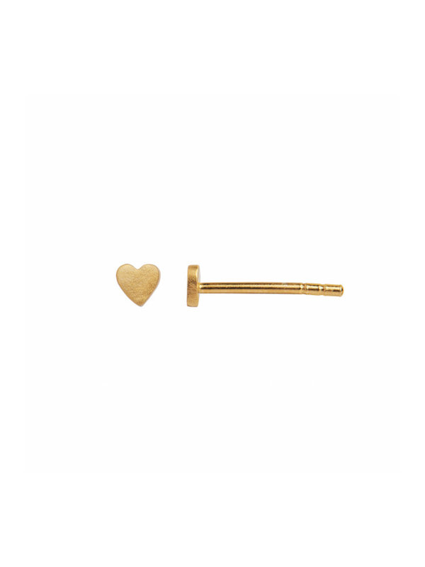 Stine A Petit Love Heart Earring Piece Gold