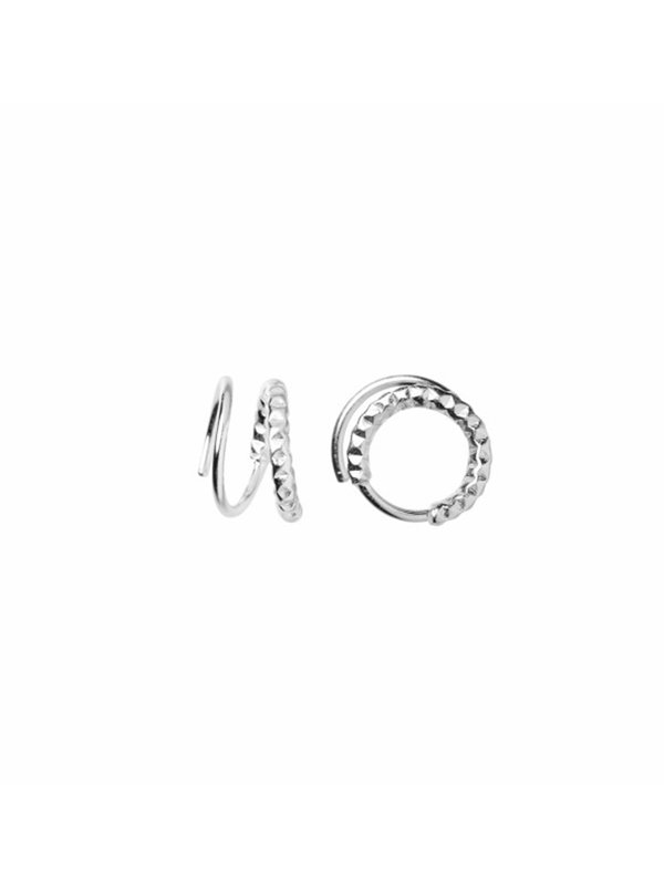 Stine A Tinsel Curl Earring Left Piece Silver