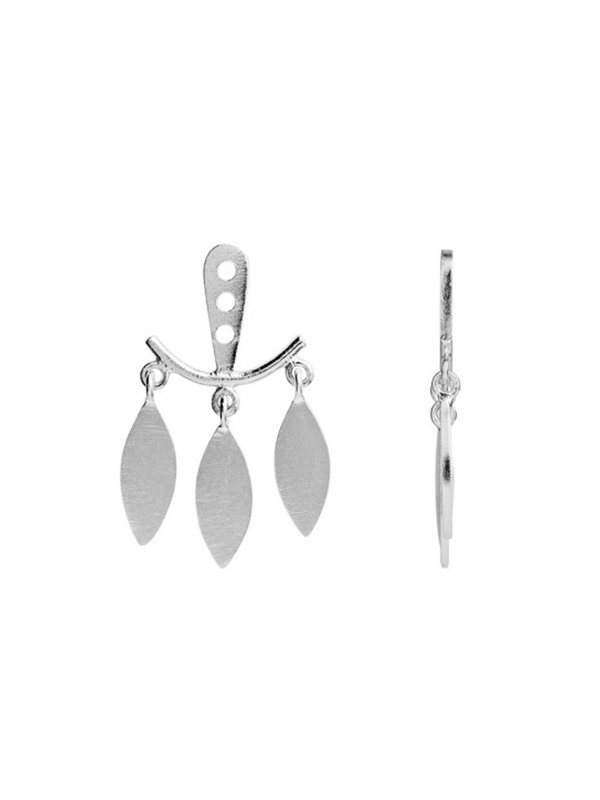 Stine A Dancing Three Leaves Behind Earring Silver
