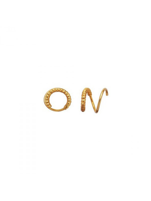 Stine A Tinsel Curl Earring Right Piece Gold