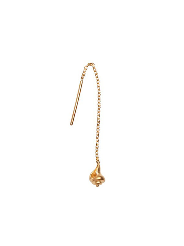 Stine A Dangling Petit Conque Earring Gold