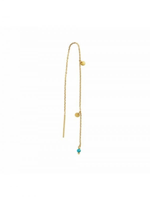 Stine A Dangling Petit Coin & Stone Gold / Turquoise