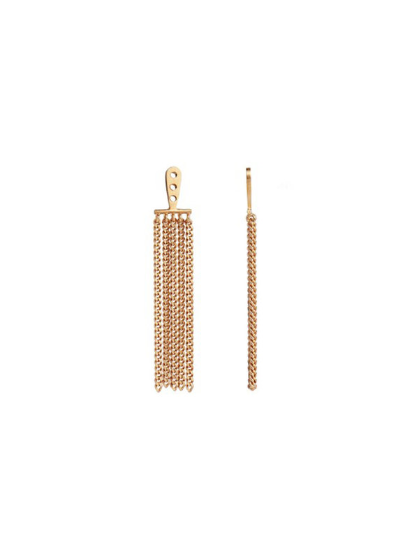 Stine A Dancing Chains Long Behind Earring Gold