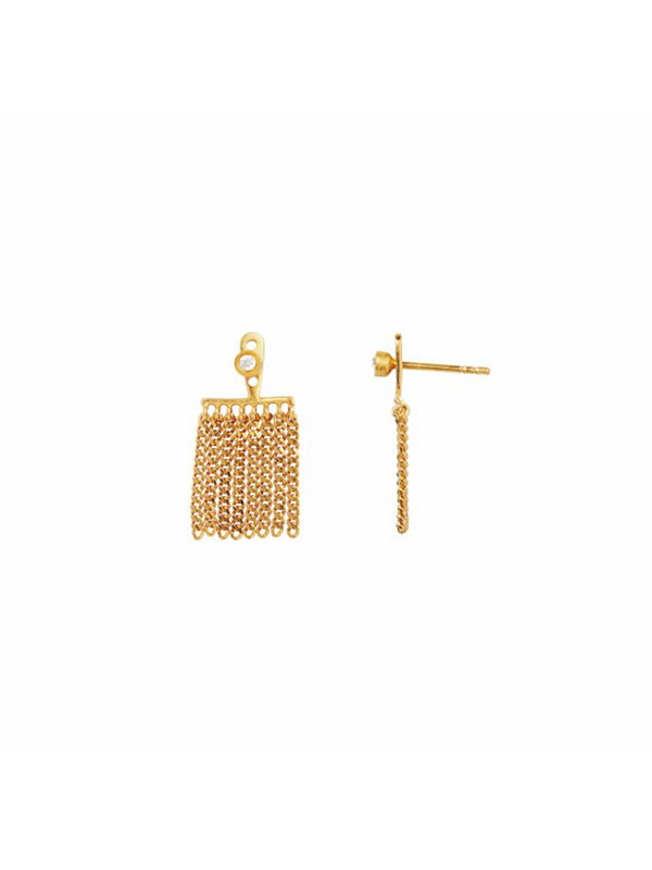 Stine A Dancing Chains Short Behind Earring Gold