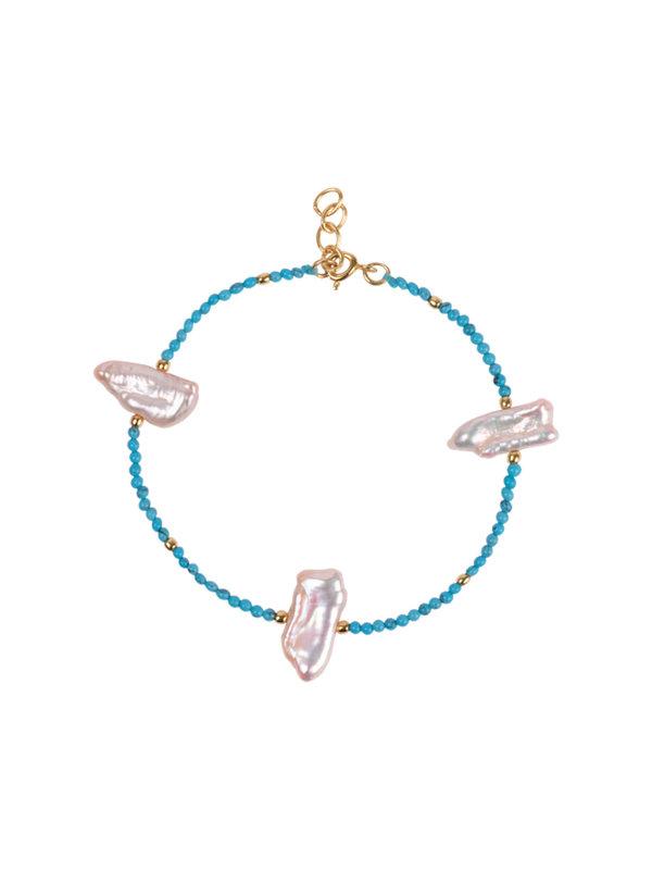 Anna + Nina Turquoise Sea Bracelet Gold