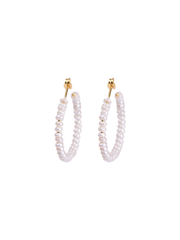 Anna + Nina Anna + Nina Seed Pearl Earring Gold