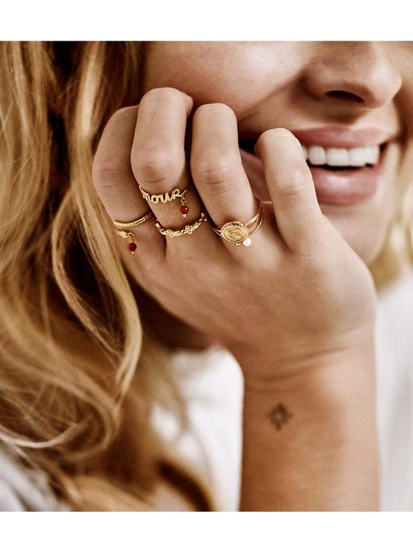 Anna + Nina Amour Ring Silver