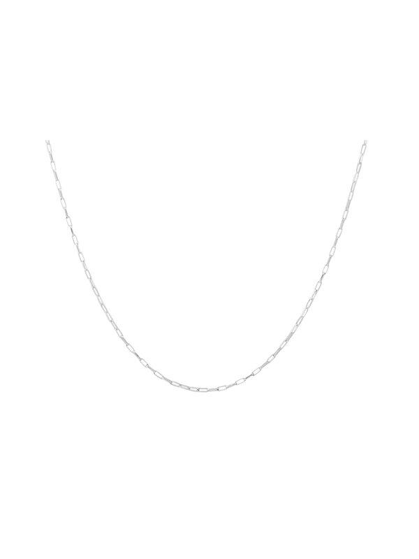 Anna + Nina Anna + Nina Lifeline Plain Long Necklace Silver