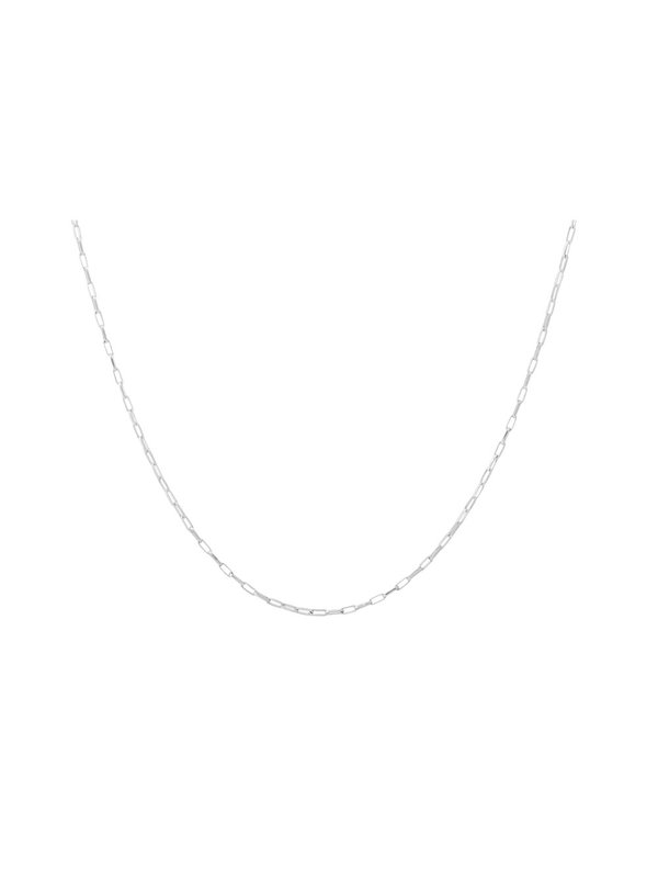 Anna + Nina Lifeline Plain Long Necklace Silver