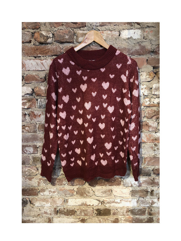 By Sara Collection All Hearts Sweater