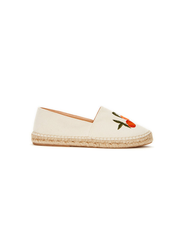 Fabienne Chapot Fabienne Chapot Espadrille Canvas Off White Orange