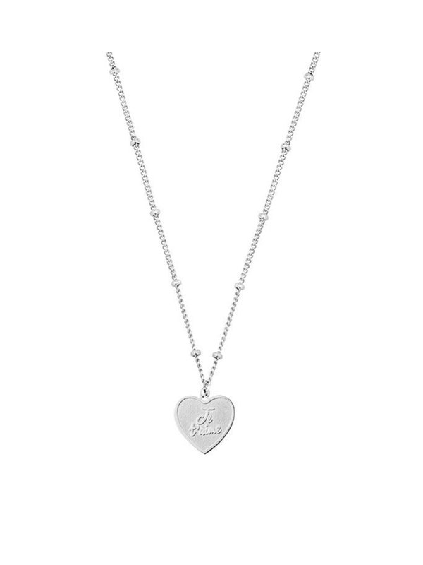 My Jewellery My Jewellery Je T'aime Necklace Silver