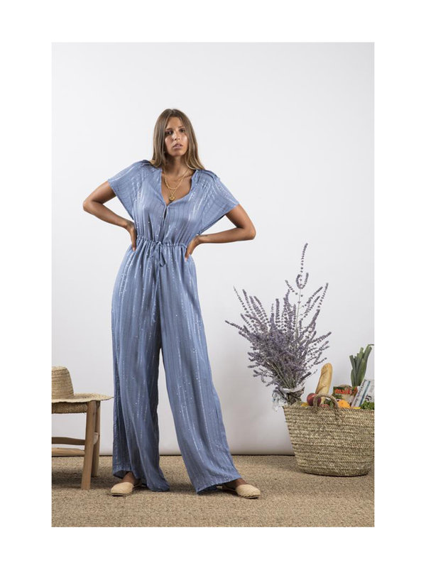 Pam Jumpsuit Roma Powder Blue