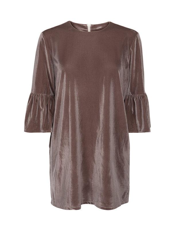 Sofie Schnoor Dusty grey velvet dress
