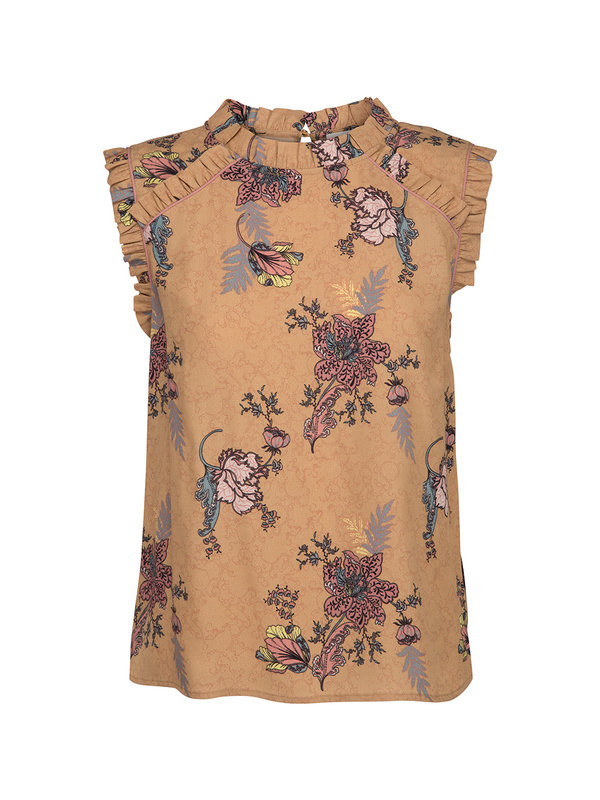 Sofie Schnoor top flowers brown