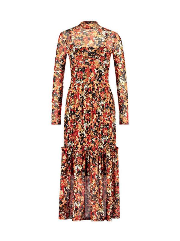 Aaiko Dress Mirla Flower Chili