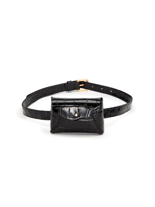 Fabienne Chapot Cindy Mini Purse Belt Black