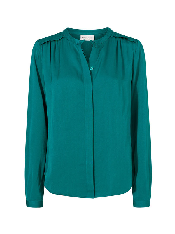 Fabienne Chapot Sunset Blouse The Real Teal