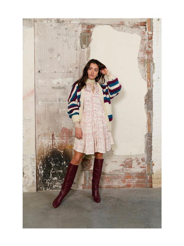 Melt Nomads Knitted Stripe Cardigan Multi Colour