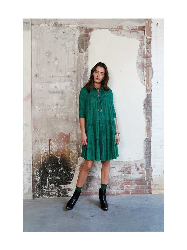 Melt Nomads Blouse Dress Stars Atlantic Deep