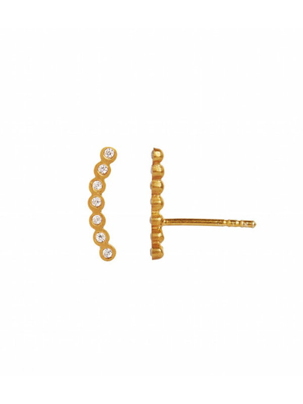 Stine A Seven Dots Earring Piece Right Gold