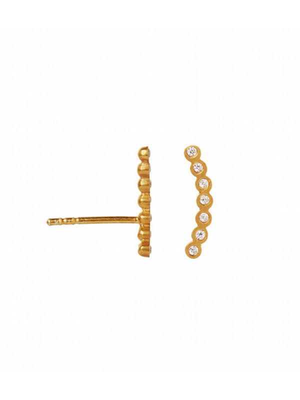 Stine A Seven Dots Earring Piece Left Gold