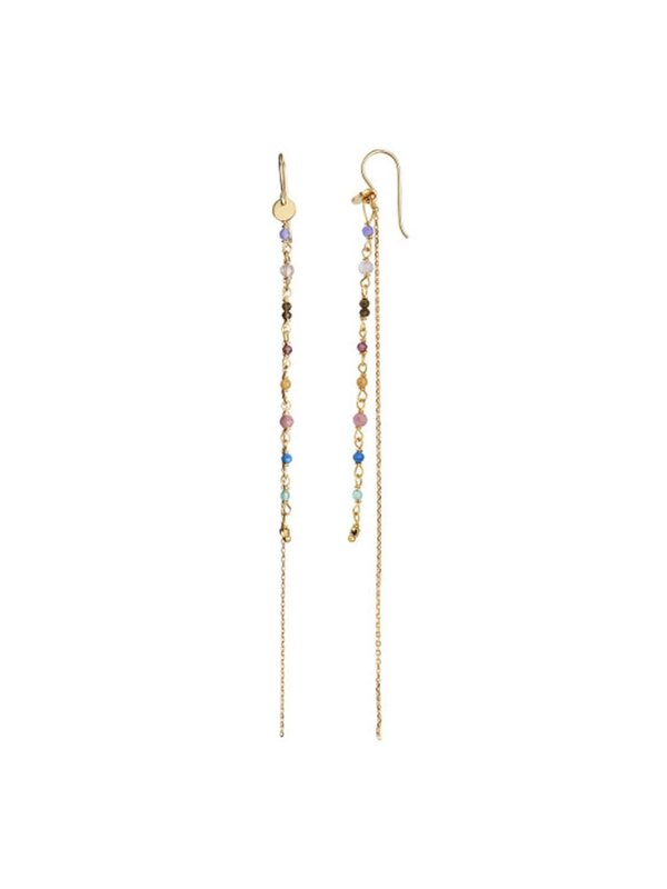 Stine A Petit Gemstones With Long Chain Earring Berry Mix