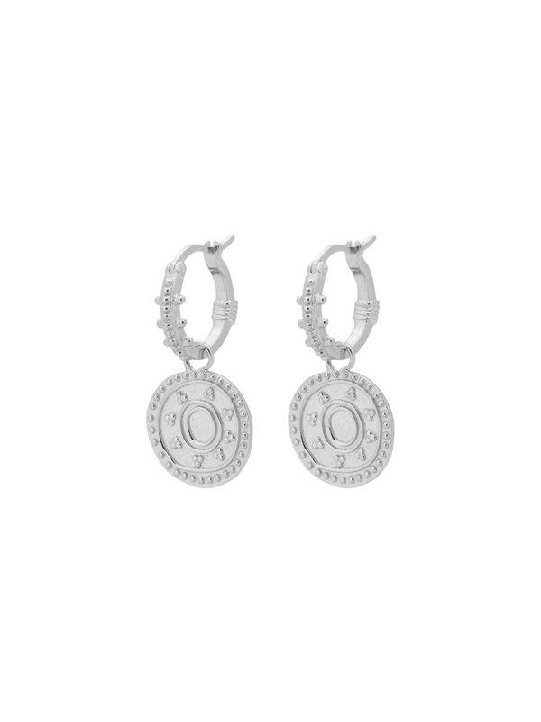 Anna + Nina Cleopatra Ring Earring Silver