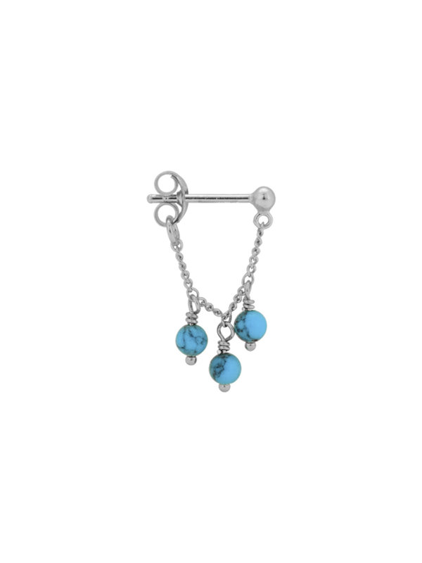 Anna + Nina Single Dead Sea Chain Earring Silver