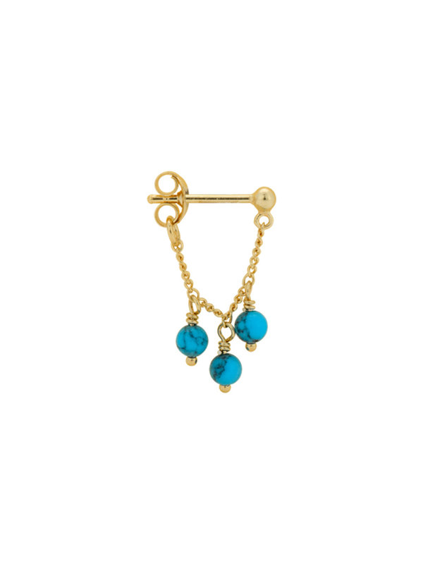 Anna + Nina Single Dead Sea Chain Earring Gold
