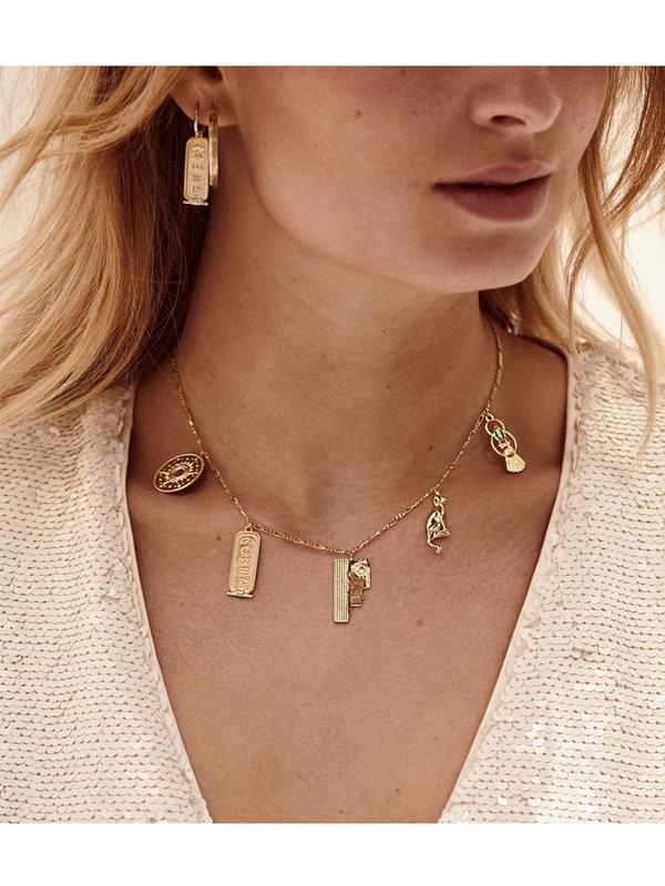 Anna + Nina  Single Ancient Egypt Ring Earring Silver