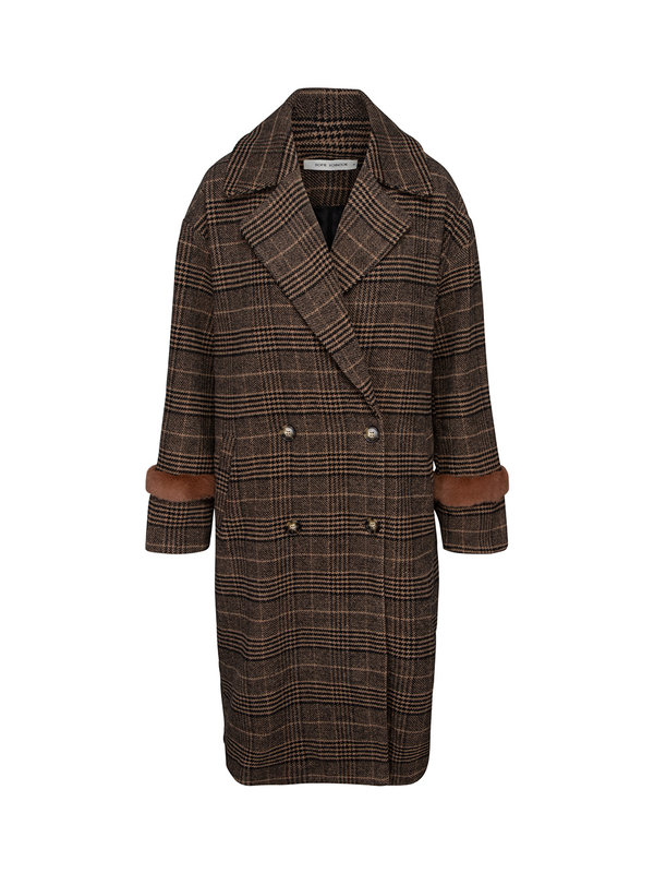 Sofie Schnoor Coat Meline Brown Check