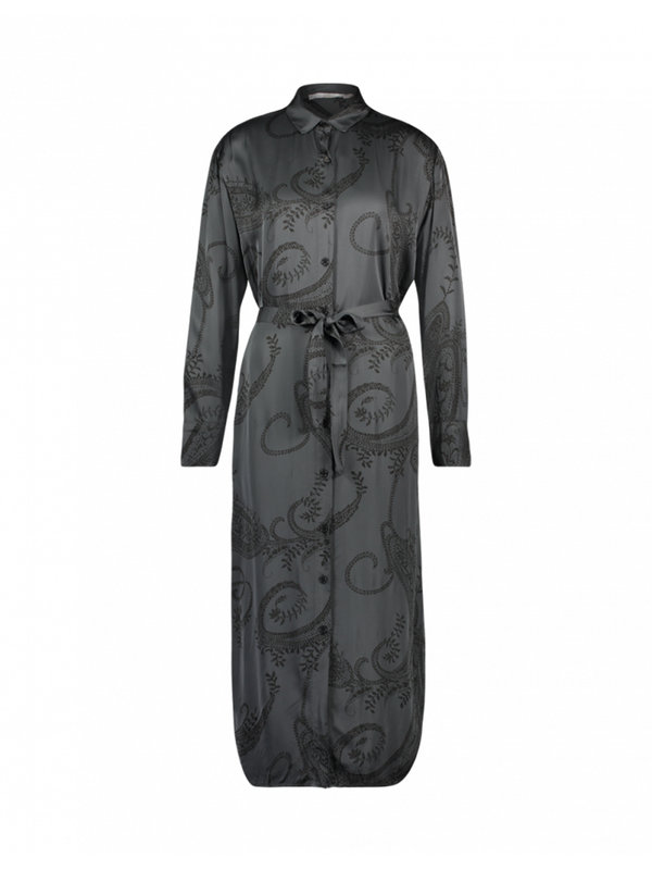 Aaiko Palma Paisley Dress Steel Grey