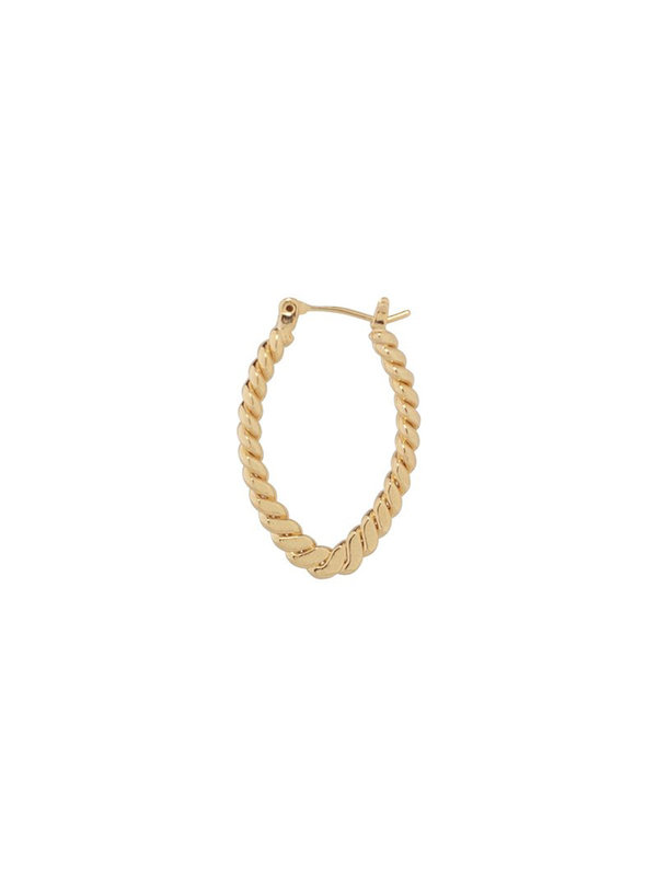 Bobby Rose Earring Oval Twisted Gold