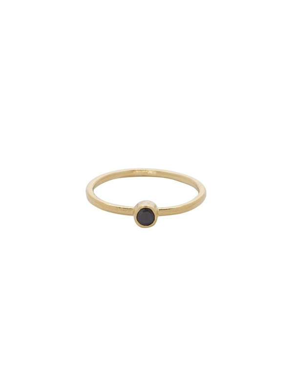 Bobby Rose Ring Onyx Moon Gold