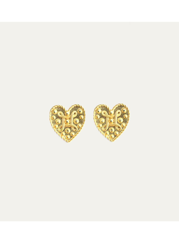 Lobibeads Earring Heart Gold