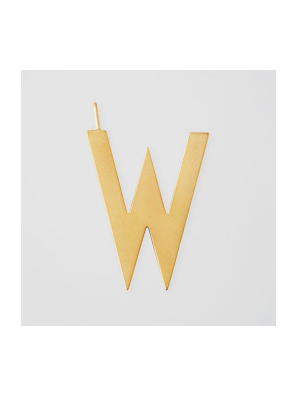 Design Letters Archetype Charm 30mm Gold W