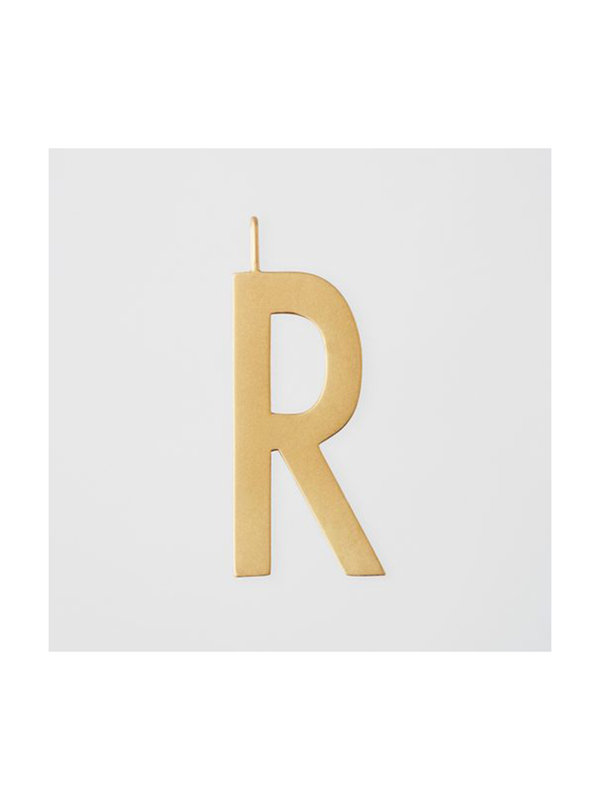 Design Letters Archetype Charm 30mm Gold R
