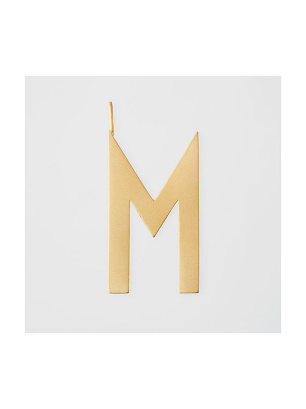 Design Letters Archetype Charm 30mm Gold M