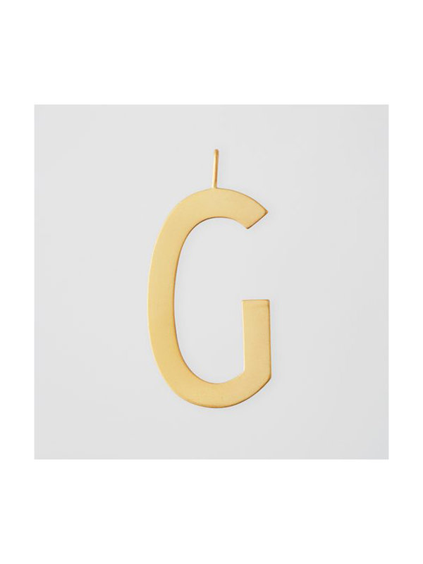 Design Letters Archetype Charm 30mm Gold G