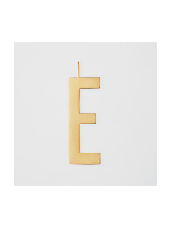 Design Letters Archetype Charm 30mm Gold E