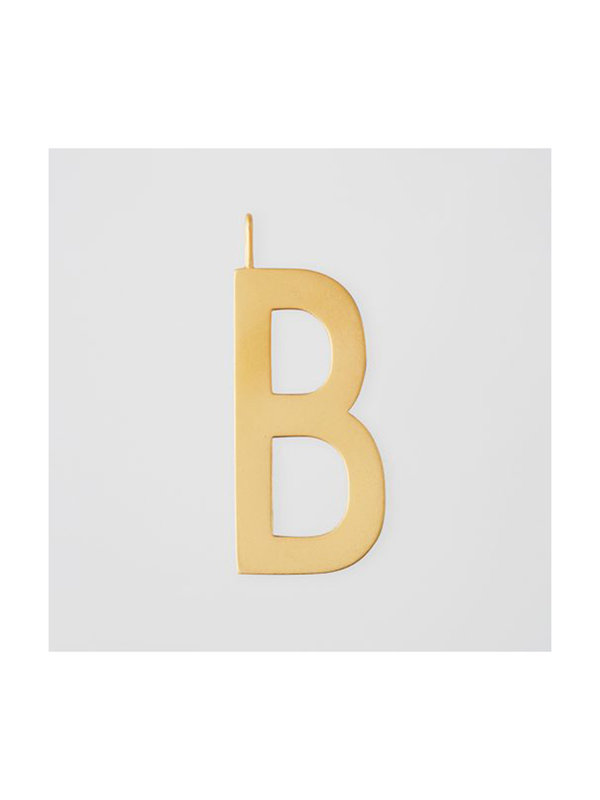 Design Letters Archetype Charm 30mm Gold B