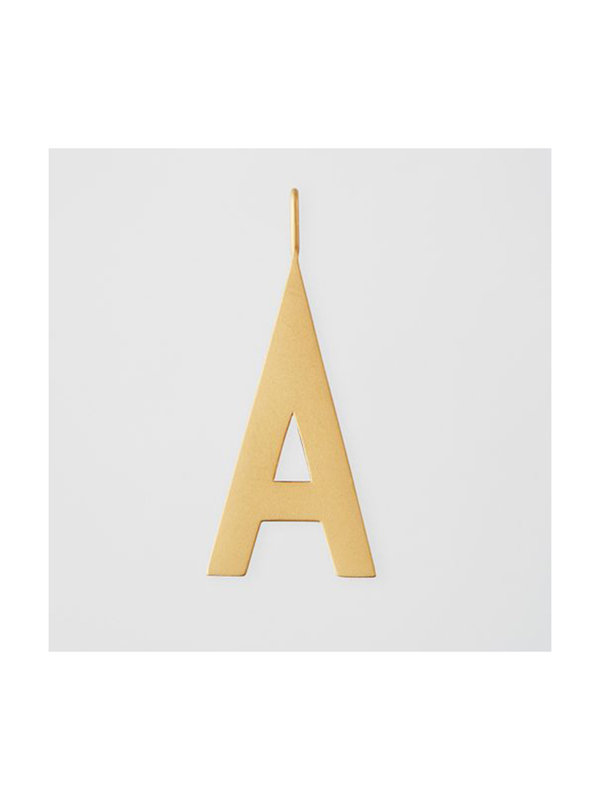 Design Letters Archetype Charm 30mm Gold A